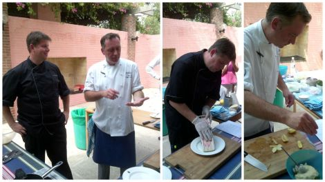 Chefs taking msterclass, Embassy of Sweden, Delhi, India
