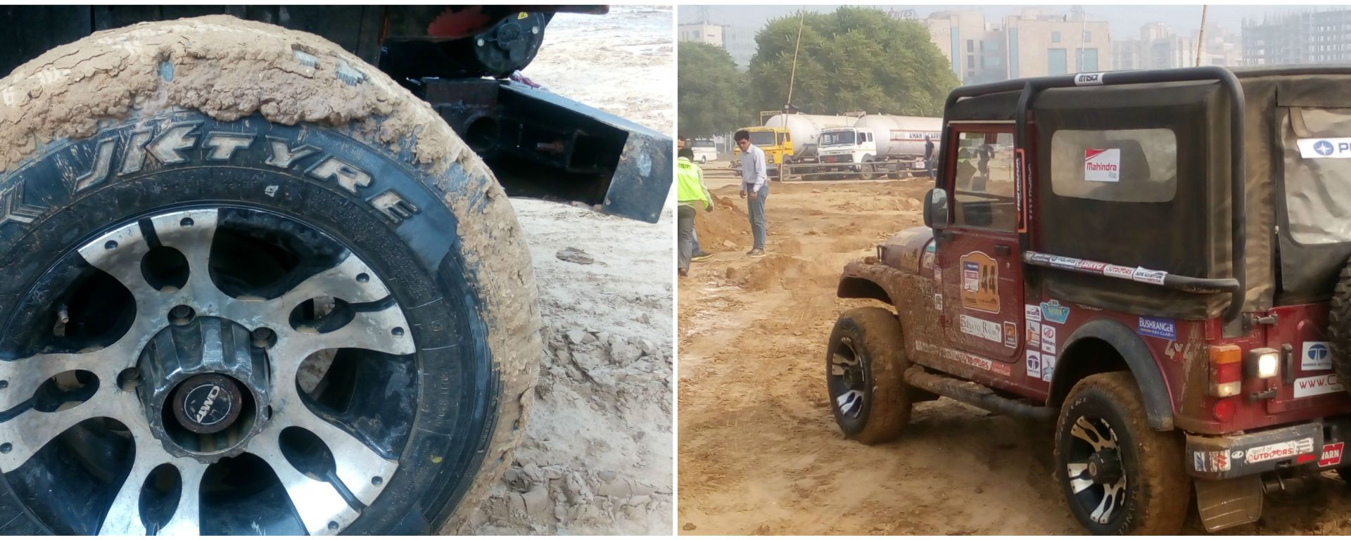 Off Roading with JK Tyres at Gurugram