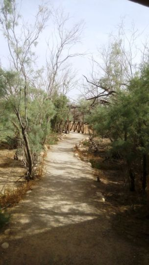 Walk to baptism site