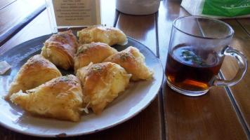Baklava with tea is a must eat in Jordan