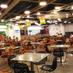 Food court at the mall
