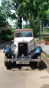 Vintage Austin, owned by Jitendra Deshprabhu, who lives in the famous palace of Pernem, Goa, India