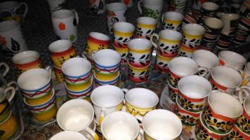 Ceramic cups at Sanganer, Rajasthan, India