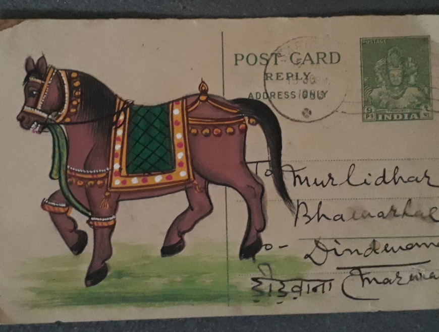 Handpainted postcards from Bundi, Rajasthan
