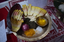Banana flowers are also used in cooking, Asaam, India