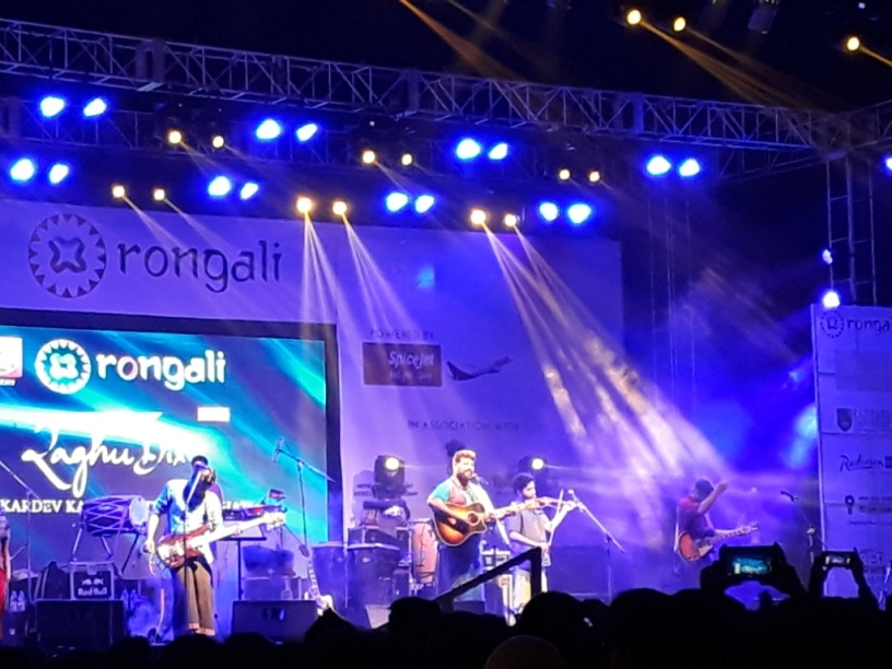 Raghu Dixit performed at Rongali 2018, Guwahati, Assam, India