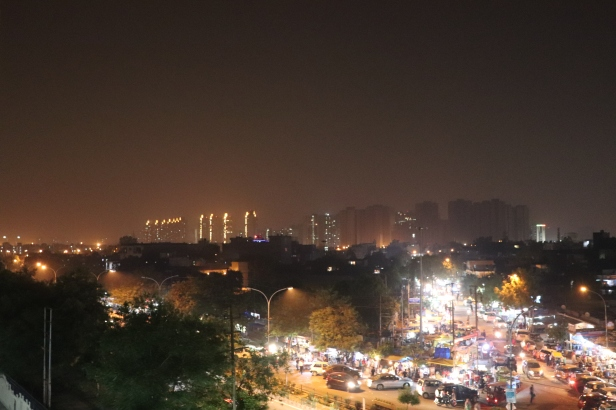Noida at night with Canon EOS 200D
