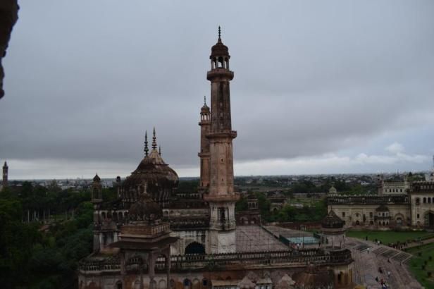View of the city from the terrace of Bara Imambara , Lucknow, Uttar Pradesh, India