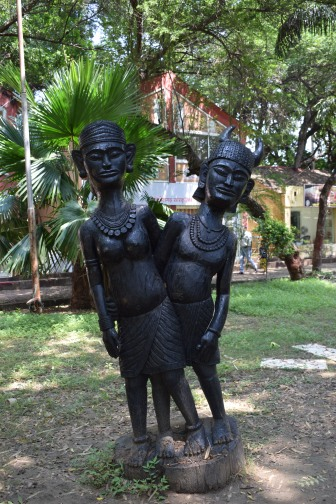 Tribal couple, Gada Kalewa, Mahunt Ghasidas Museum, Raipur, India