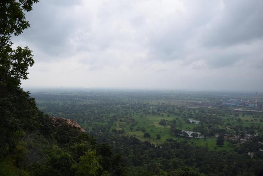 View from singhnapur cave hills, Raigarh, India