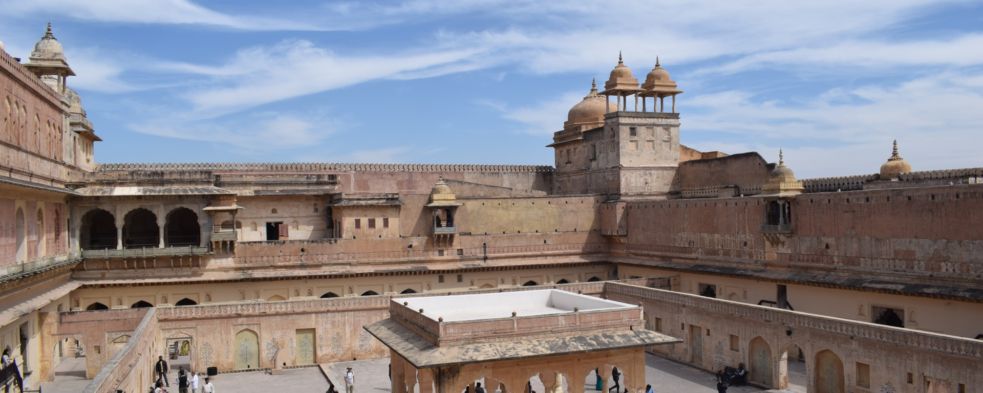 Where the queens lived in Amer Fort, Jaipur, Rajastham, India