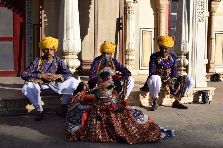 Waiting for a show, city Palace, Jaipur, Rajasthan, India