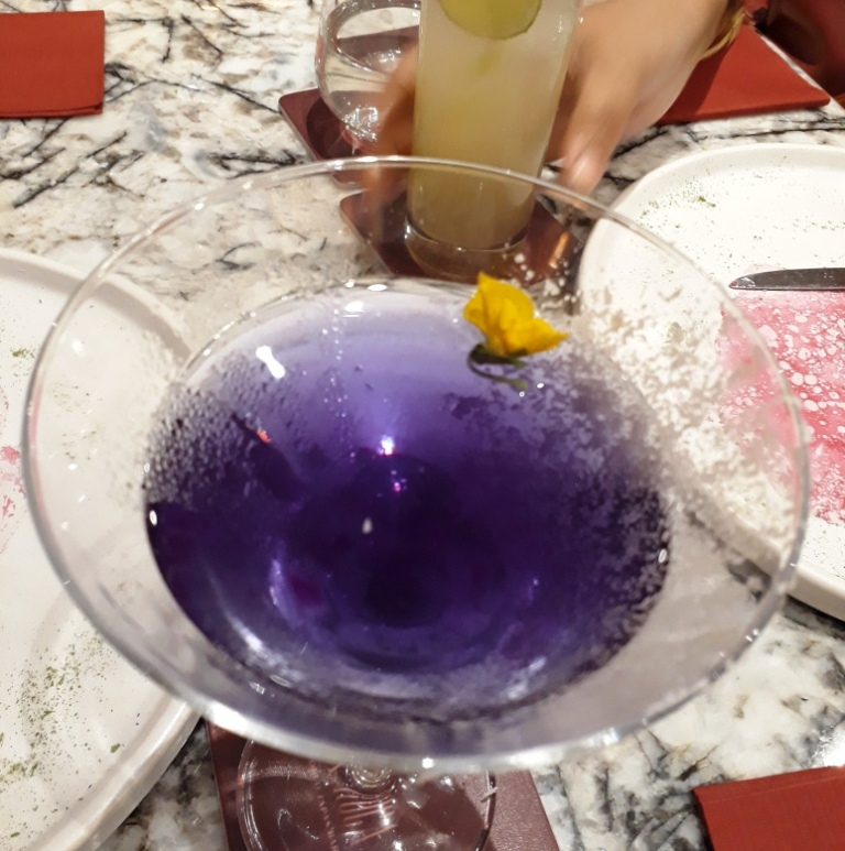 Cocktail called Violet, La Roca, Aerocity, Delhi, India