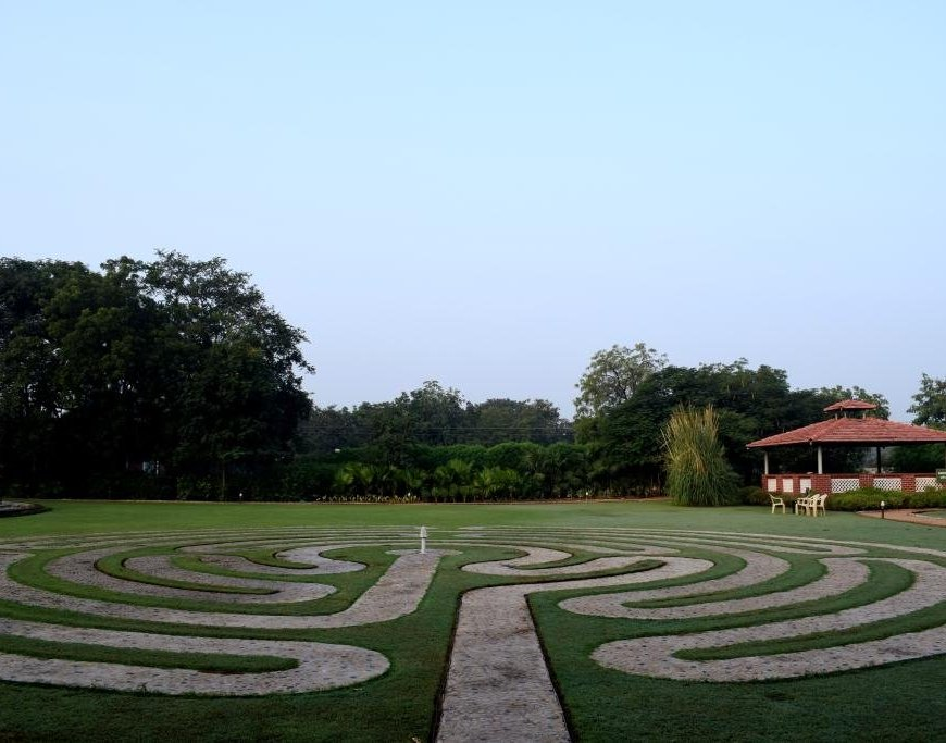 Walk through the labyrinth, Nimba Nature Cure, Mehsana, Gujarat
