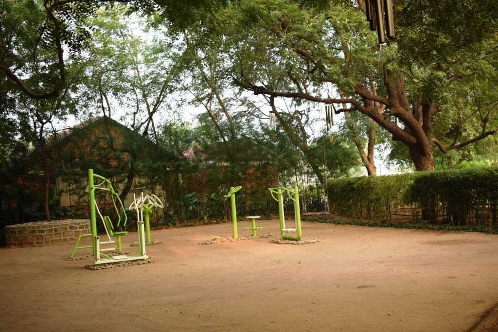 Exercising in open air and time outdoors always calms the mind, Nimba Nature Cure, Gujarat, India