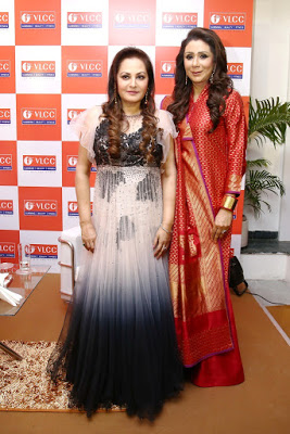 Vandana Luthra , founder VLCC, with Bollywood actor Jaya Prada