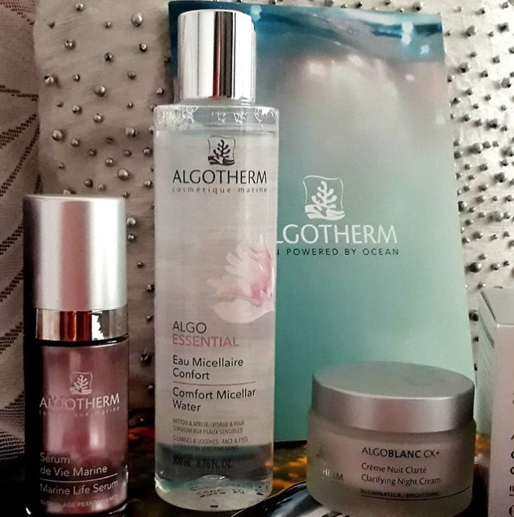 Algotherm serum,micellar water and night cream