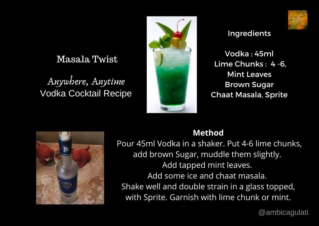 Masala Twist Vodka Cocktail recipe use