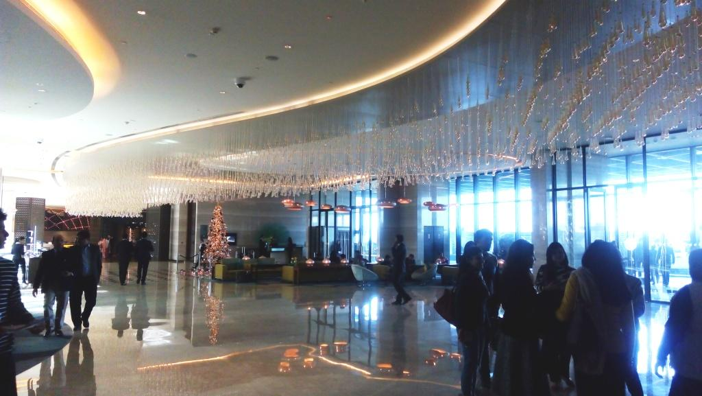 The lobby at Pullman has the dancing peacock theme and the interior done by Singapore-based Merriem Hall Designs