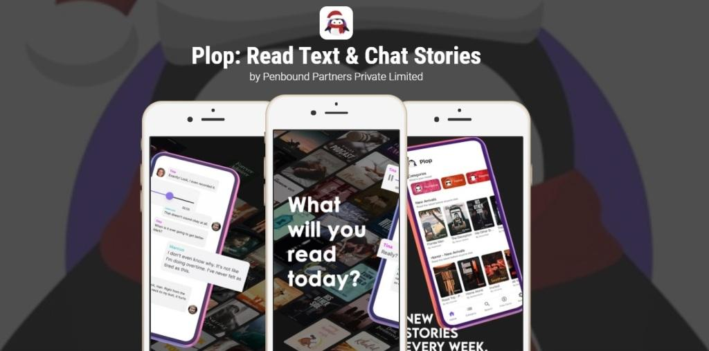 Plop app for reading, writing, texting