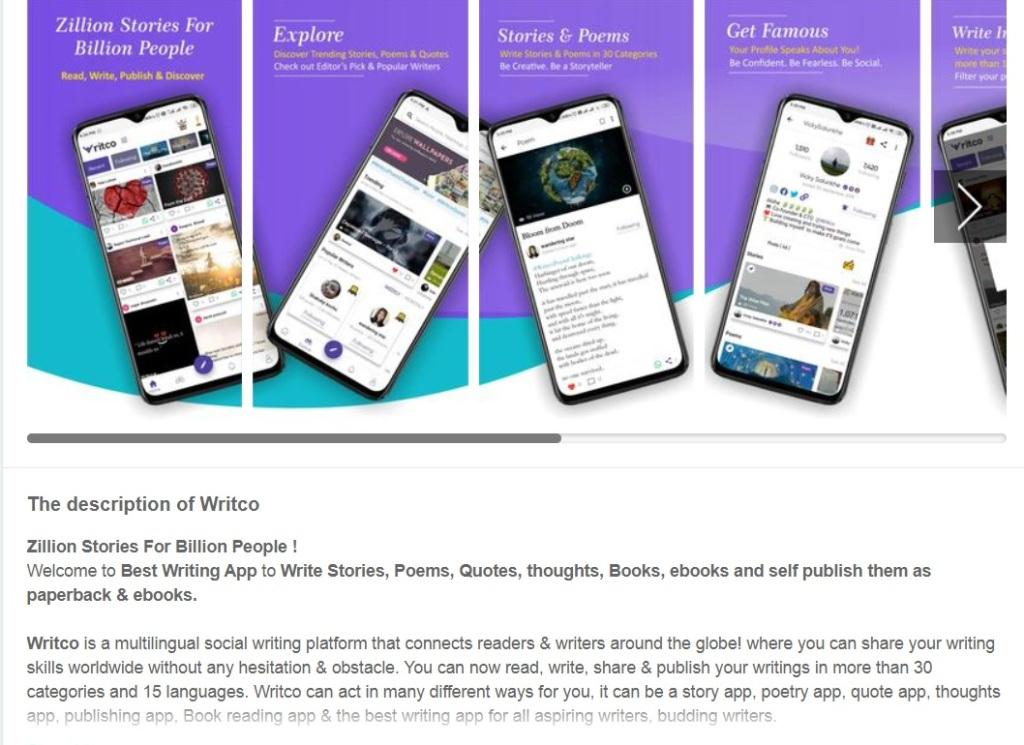 Writco is a multilingual social writing, publishing and discovery platform