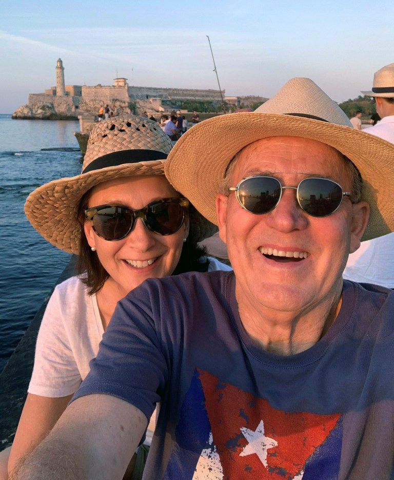 Joseph and Julie Rosendo in Cuba
