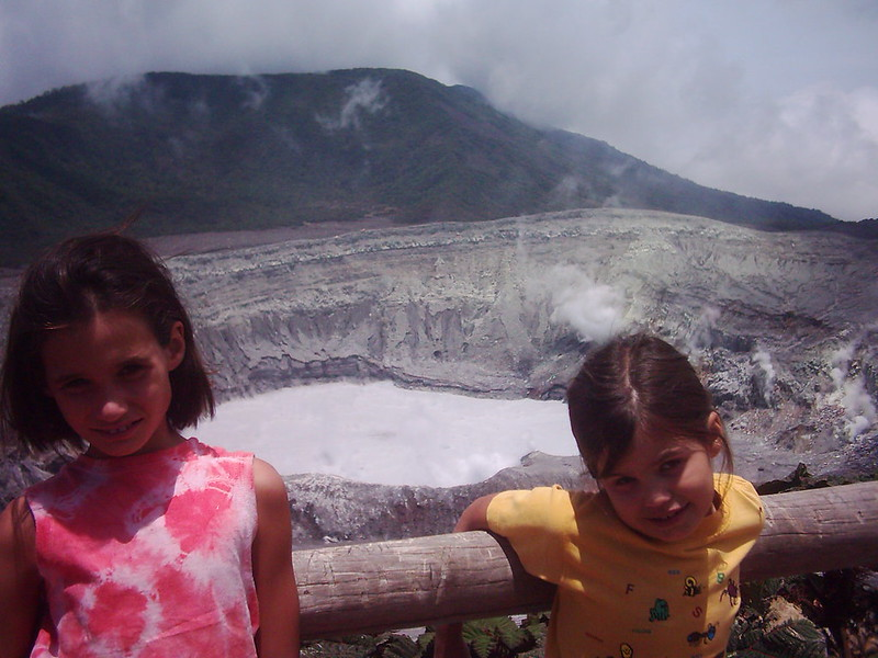 At Volcán Poás, central Costa Rica (Jocelyn on the left, Natalie on the right)