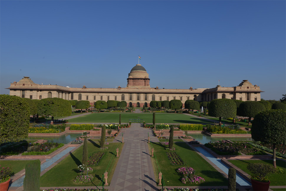Rectangular Garden, Rashtrapati Bhavan Delhi, Photo from offiicial site