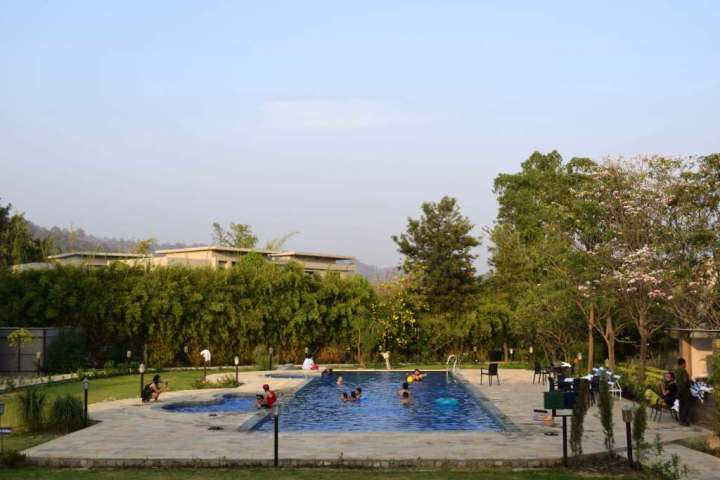 The Golden Tusk swimming pool, Corbett National Park