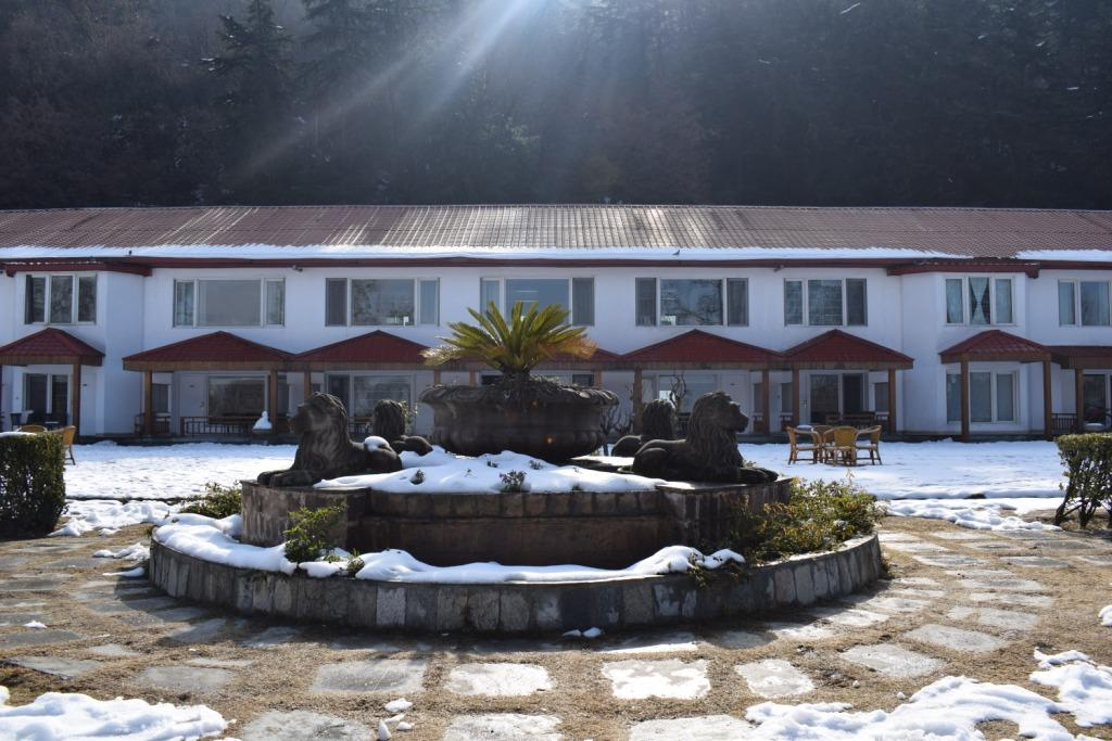 Winter view of The Lalit Grand Palace Srinagar, Kashmir, India