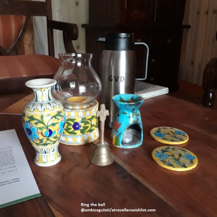 Hand bell, Orchard Tents & Tranquility, Pushkar, Rajasthan, India