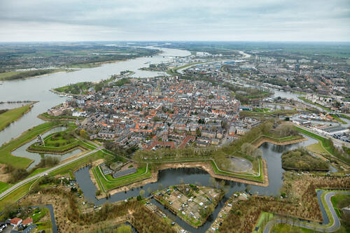 Dutch Water Defence Lines (extension of the Defence Line of Amsterdam). Fortified town of Gorinchem© New Dutch Waterline