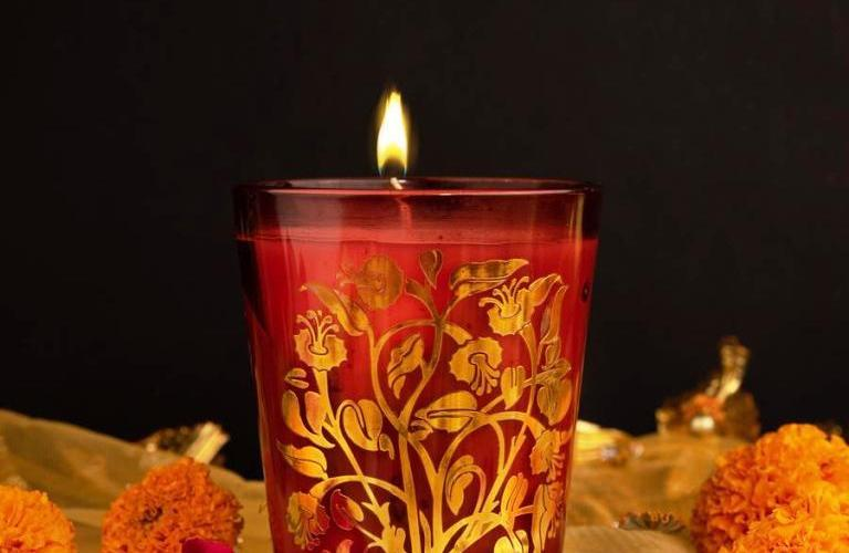 Krishna Kamal, inspired by the lotus flower, candle stand