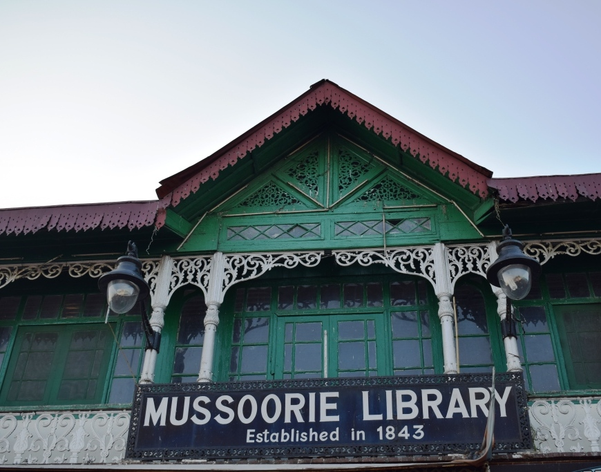 Old library in Mussoorie, Uttarakhand, India